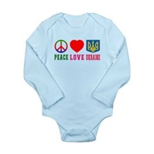 Peace Love Ukraine Long Sleeve Infant Bodysuit