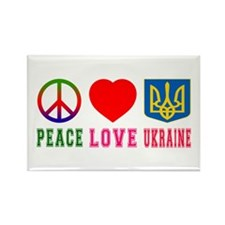 Peace Love Ukraine Rectangle Magnet
