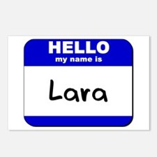 hello my name is lara  Postcards (Package of 8)