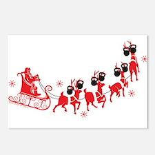 Reindeer Games Small Postcards (Package of 8)
