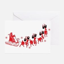 Reindeer Games Small Greeting Cards