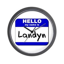 hello my name is landyn  Wall Clock