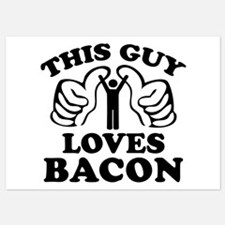 This Guy Loves Bacon Invitations