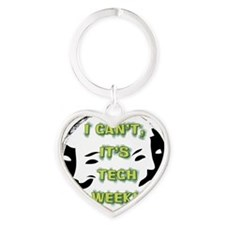 I cant, its tech week! Heart Keychain