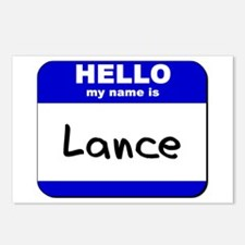 hello my name is lance  Postcards (Package of 8)