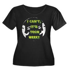 I cant,  Women's Plus Size Dark Scoop Neck T-Shirt
