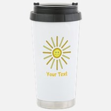Happy Summer Sun and Text. Stainless Steel Travel
