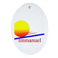 Immanuel Oval Ornament