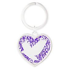 Birds of the Air (Purple) Heart Keychain