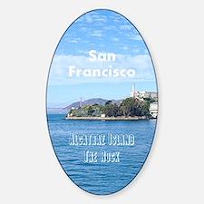 SanFrancisco_5.5x8.5_Journal_Alcatr Sticker (Oval)