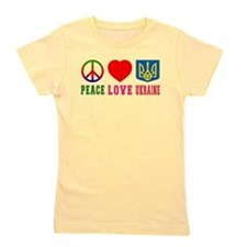 Peace Love Turks And Caicos Islands Girl's Tee