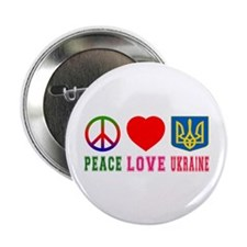"Peace Love Turks And Caicos Islands 2.25"" Button"
