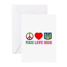 Peace Love Turks And Caicos Islands Greeting Cards