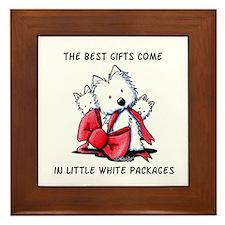 Westie Gift Framed Tile