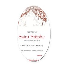 Saint Stephe Vineyard Poster Oval Car Magnet