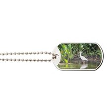 Egret in Wakulla Springs Dog Tags