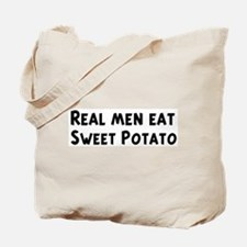 Men eat Sweet Potato Tote Bag