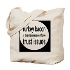 turkeybaconbutton Tote Bag