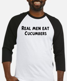 Men eat Cucumbers Baseball Jersey