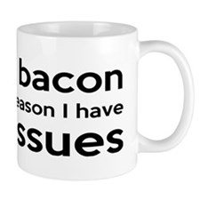 turkeybaconbumper Small Mugs