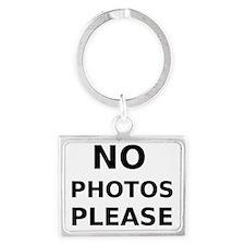 No Photos Please Landscape Keychain