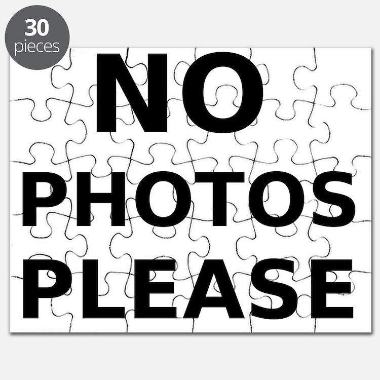 No Photos Please Puzzle