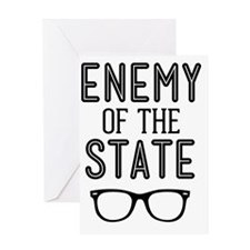 Enemy of the State Greeting Card