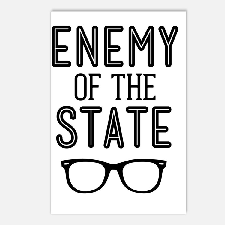Enemy of the State Postcards (Package of 8)