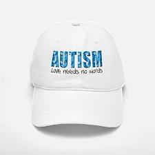 Autism Love Needs No Words Baseball Baseball Cap