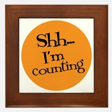 Knit Sassy - Shh... I'm Counting Framed Tile