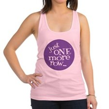 Knit Sassy - Just One More Row. Racerback Tank Top