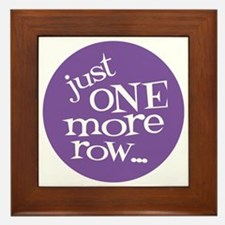 Knit Sassy - Just One More Row... Framed Tile
