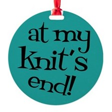 Knit Sassy - At my knit's end! Ornament