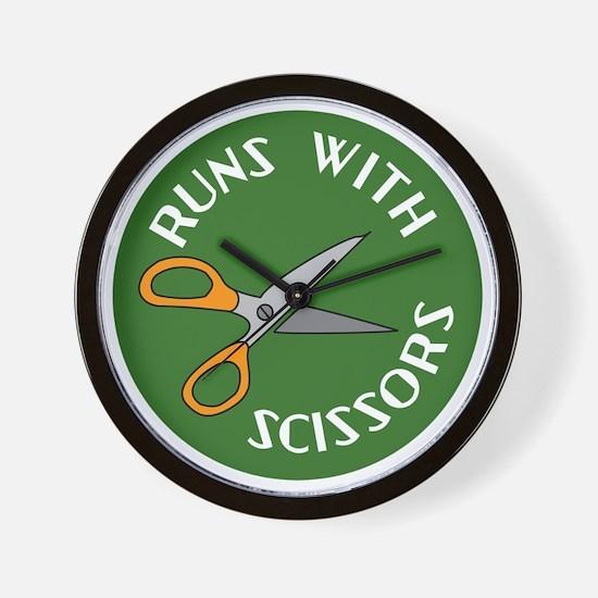 Sew Sassy - Runs With Scissors Wall Clock
