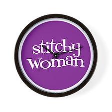 Sew Sassy / Kit Sassy - Stitchy Woman Wall Clock