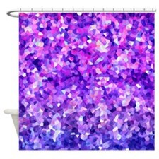 Purple Sparkle Shower Curtain
