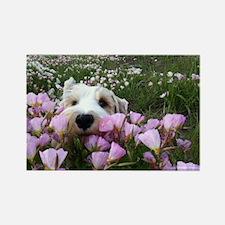 flower dobby Rectangle Magnet