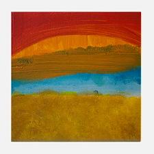 River Sunset Tile Coaster