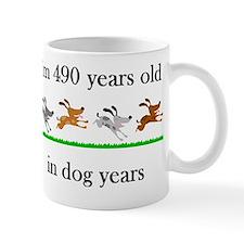 70 birthday dog years 1 Small Mugs