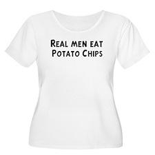 Men eat Potato Chips T-Shirt