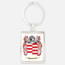 Barrett Coat of Arms Portrait Keychain