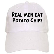 Men eat Potato Chips Baseball Cap