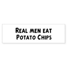 Men eat Potato Chips Bumper Bumper Sticker