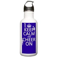 Keep Calm and Cheer on Water Bottle