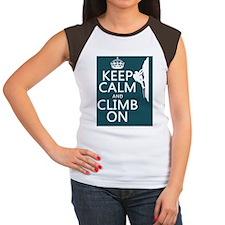 Keep Calm and Climb On Women's Cap Sleeve T-Shirt