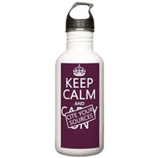 Keep Calm and Cite You Water Bottle