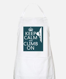 Keep Calm and Climb On Apron