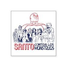 "Santo vs the Monsters Square Sticker 3"" x 3"""