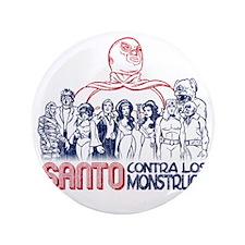 "Santo vs the Monsters 3.5"" Button"