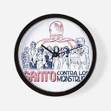 Santo vs the Monsters Wall Clock